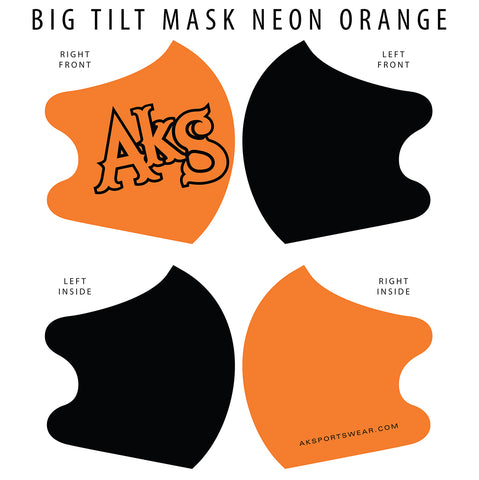 AkS Big Tilt Dual Layer Mask - Orange