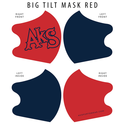AkS Big Tilt Dual Layer Mask - Red