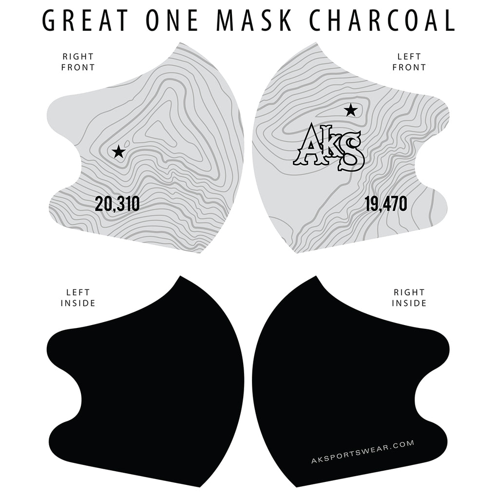 AkS Great One Dual Layer Mask - Charcoal