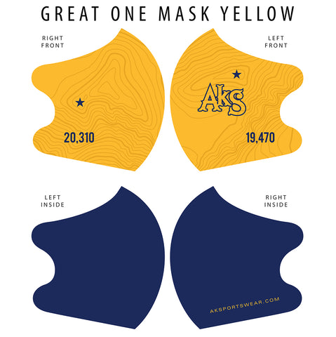 AkS Great One Dual Layer Mask - Yellow