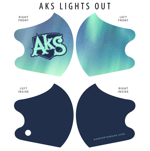 AkS Big Tilt Dual Layer Mask - matching our Lights Out design