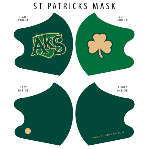 AkS Big Tilt Dual Layer Mask - St. Patrick's