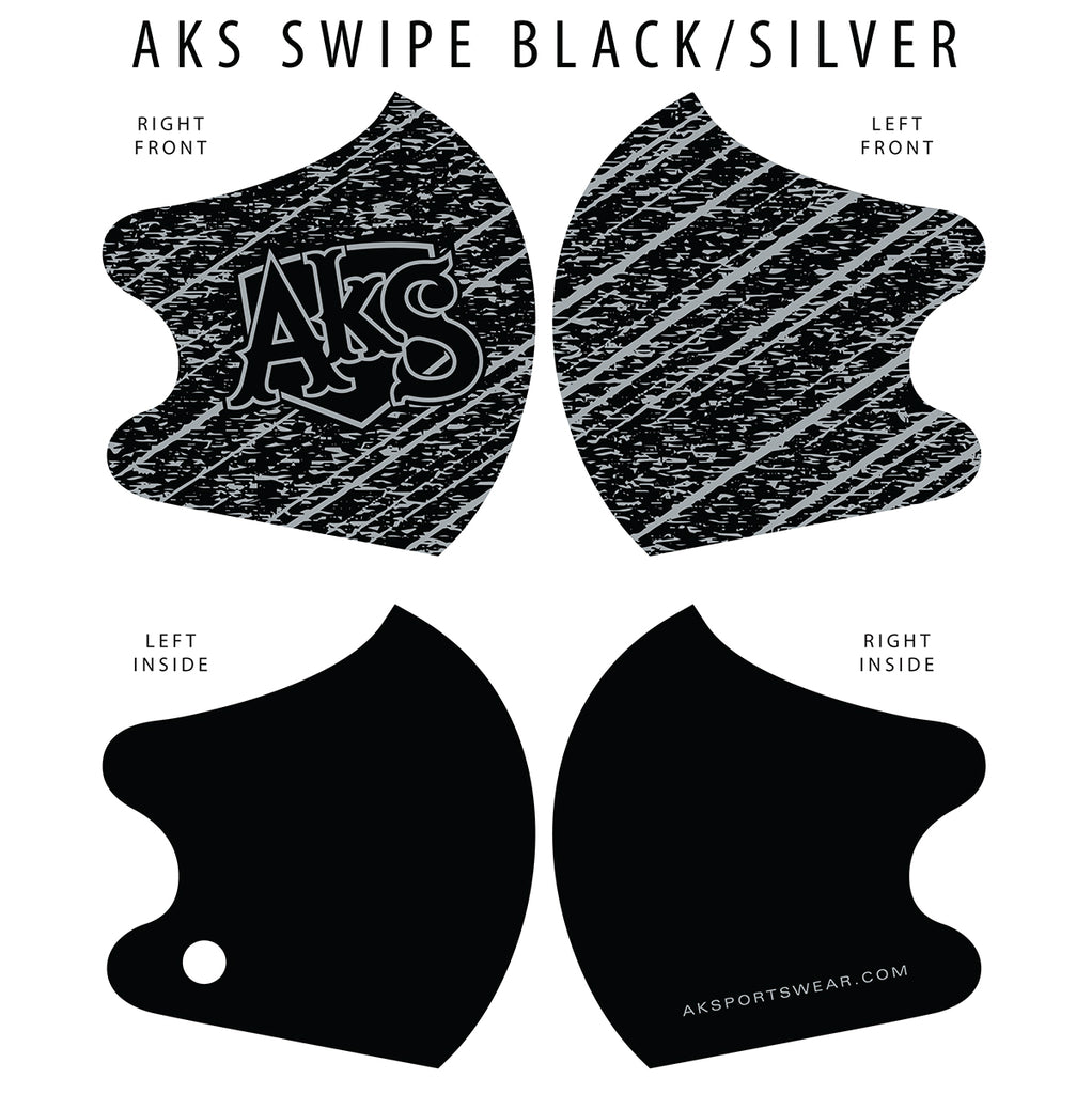 AkS Swipe Dual Layer Mask - Black/Silver
