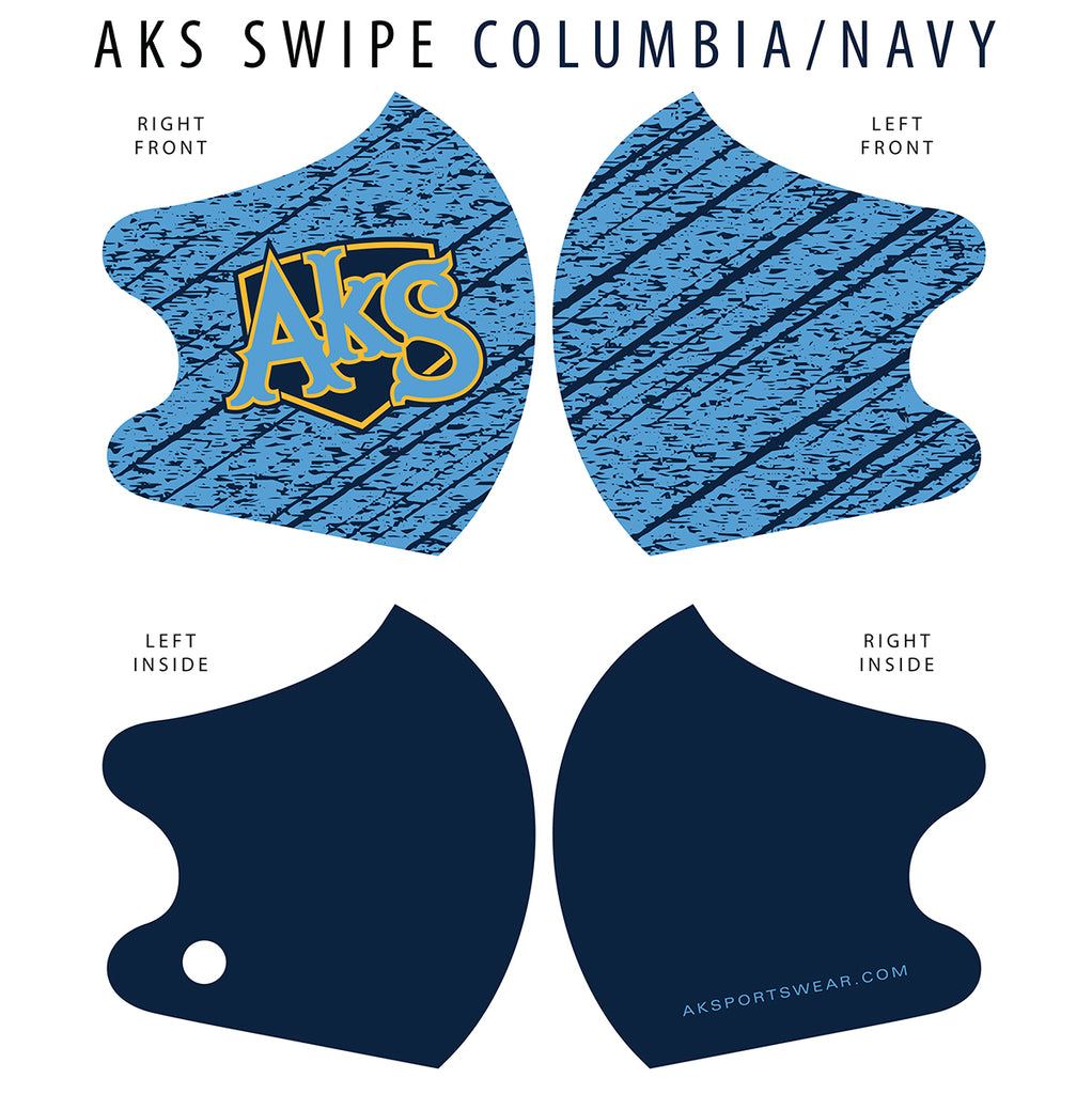 AkS Swipe Dual Layer Mask - Columbia/Navy