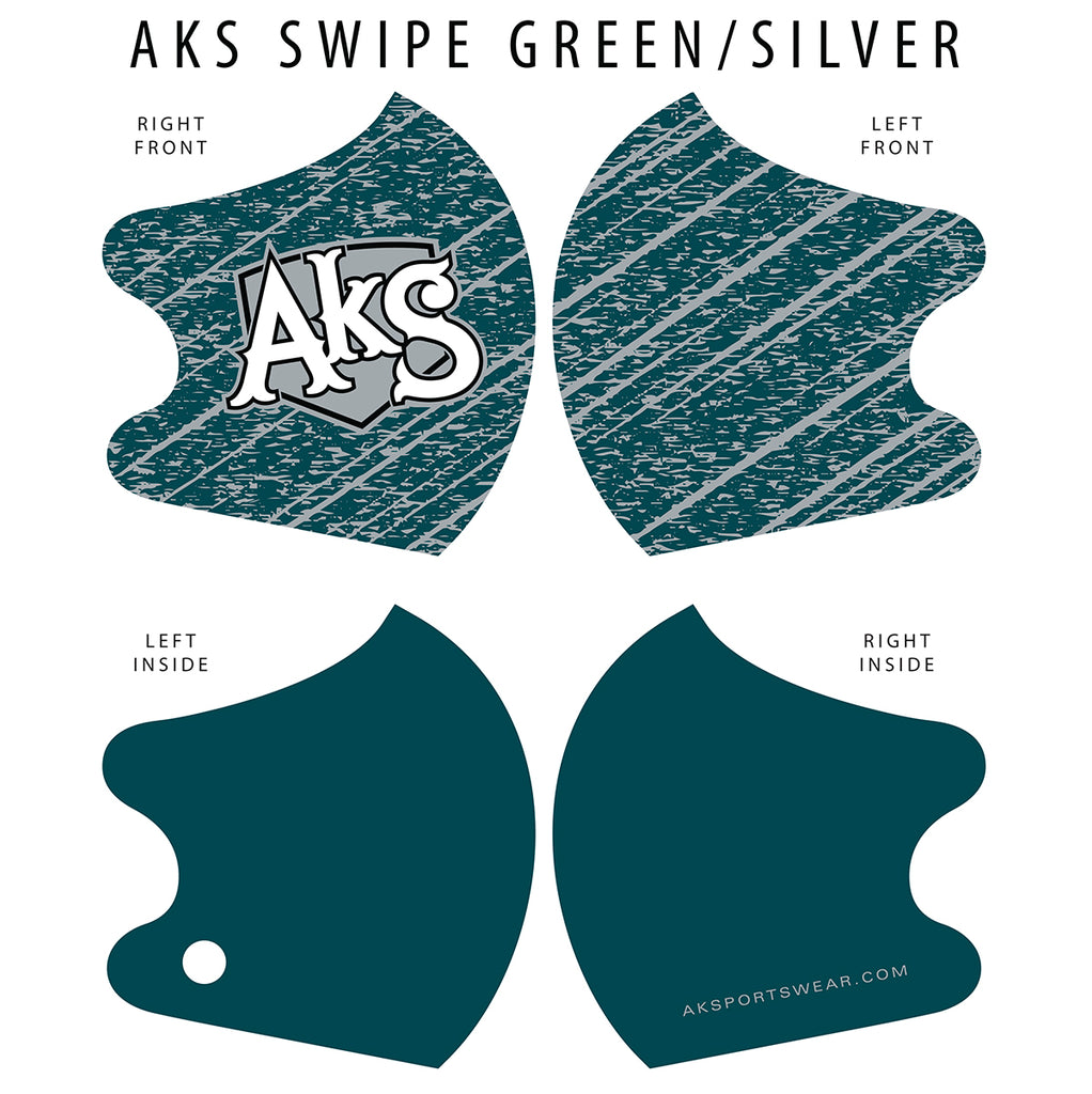 AkS Swipe Dual Layer Mask - Green/Silver