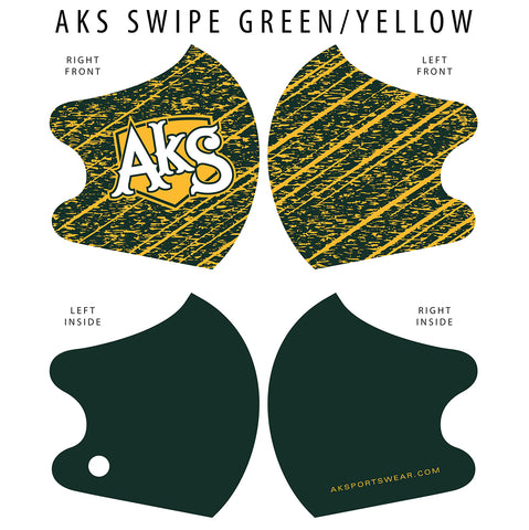 AkS Swipe Dual Layer Mask - Green/Yellow