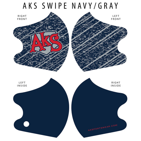 AkS Swipe Dual Layer Mask - Navy/Gray
