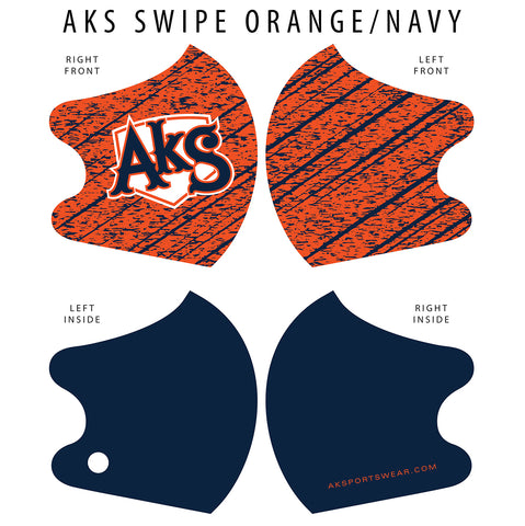 AkS Swipe Dual Layer Mask - Orange/Navy