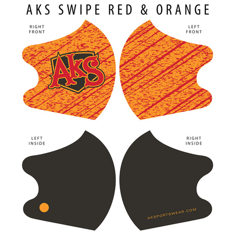 AkS Swipe Dual Layer Mask - Orange/Red