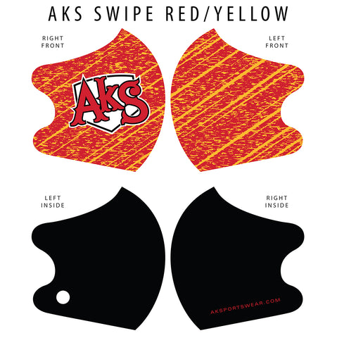 AkS Swipe Dual Layer Mask - Red/Yellow
