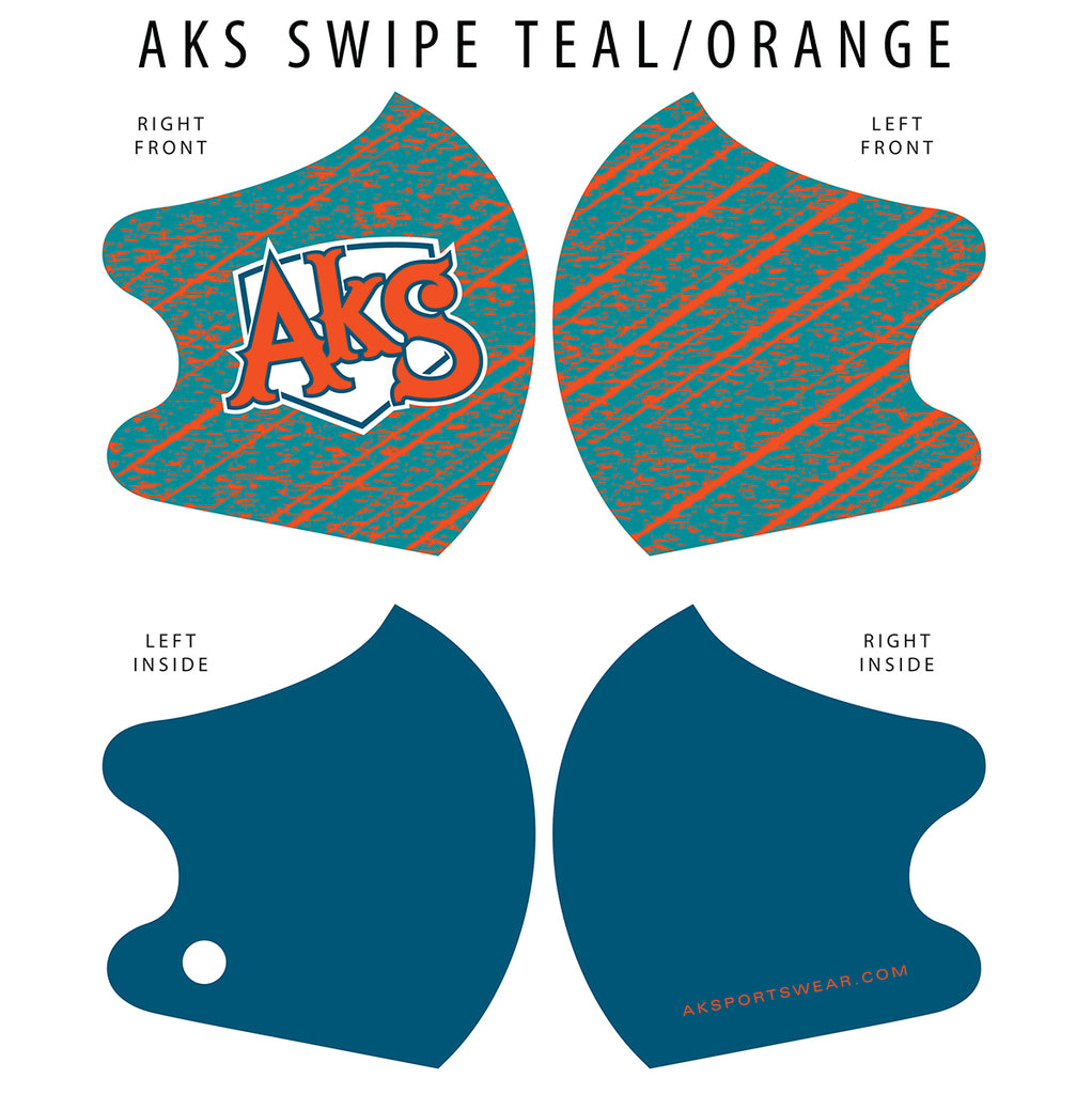 AkS Swipe Dual Layer Mask - Teal/Orange