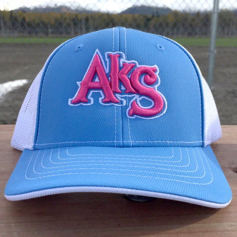 AkS Original hat in Columbia & White