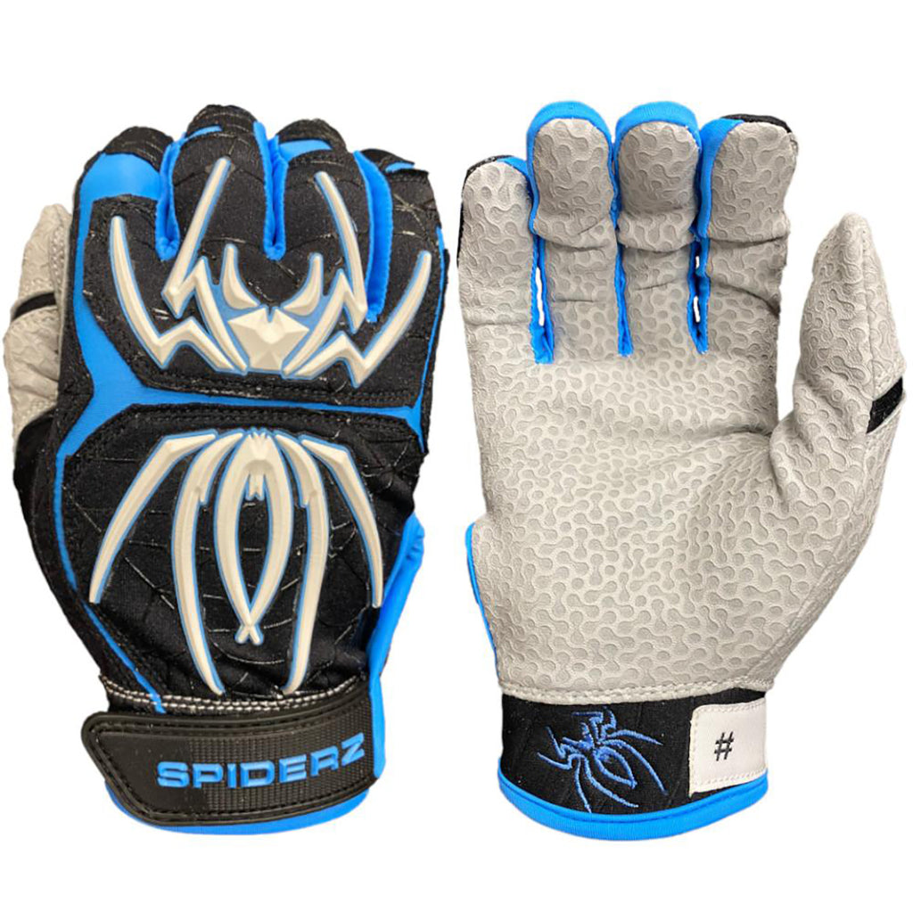 Spiderz Endite Batting Gloves – Black/Carolina/White