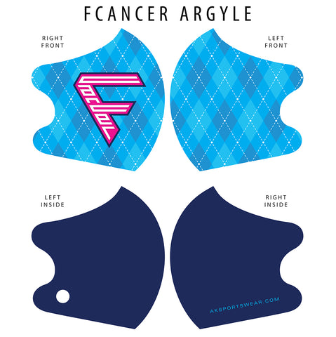 AkS4Life FCancer Dual Layer Mask - Argyle Edition
