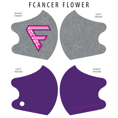 AkS4Life FCancer Dual Layer Mask - Flower Edition