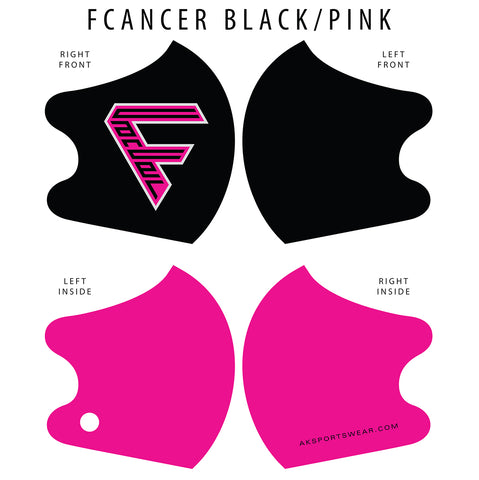 AkS4Life FCancer Dual Layer Mask - Black/Pink Edition