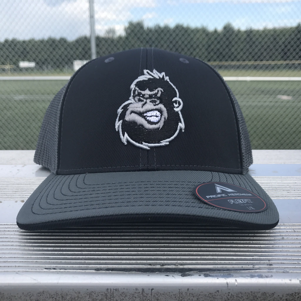 Silverback Trucker Hat in Black & Graphite