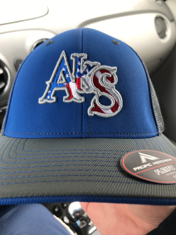 Stars & Stripes Trucker Hat in Royal & Graphite