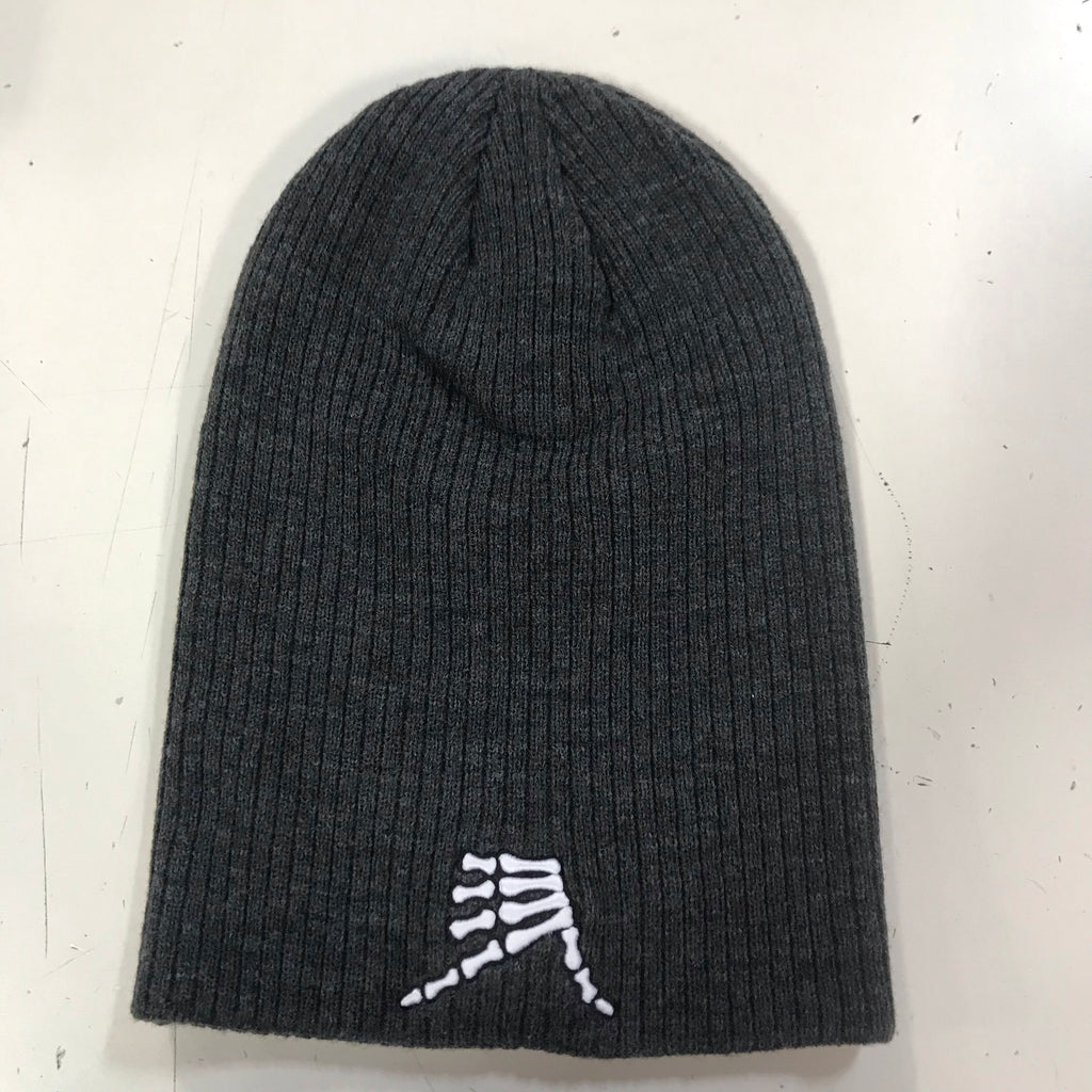 AkS Bones Beanie Slouchy in Dark Heather