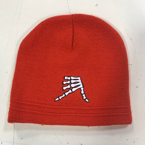 AkS Bones Beanie in Orange & Black