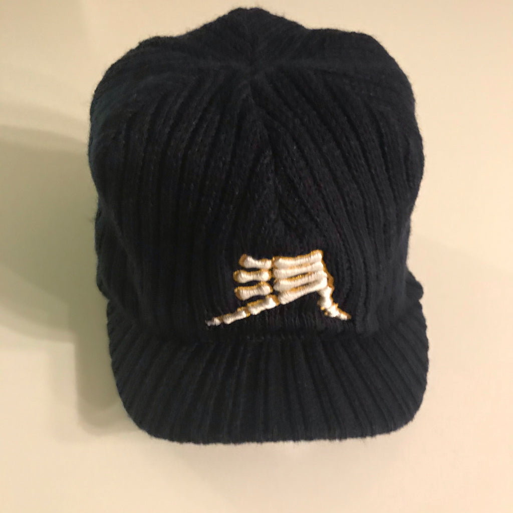 AkS Bones Beanie with Visor in Navy