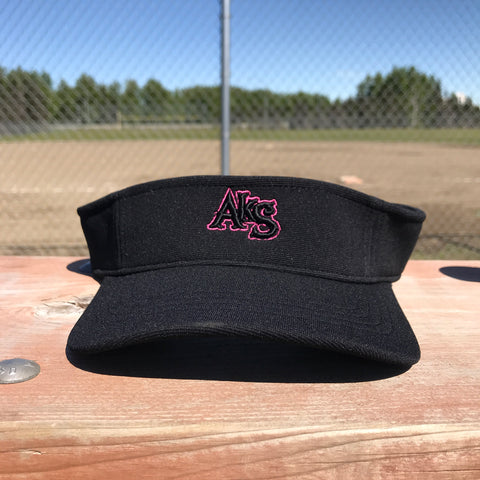 AkS Visor in Black with Neon Pink