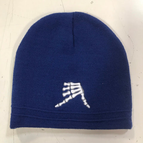 AkS Bones Beanie in Royal & Charcoal