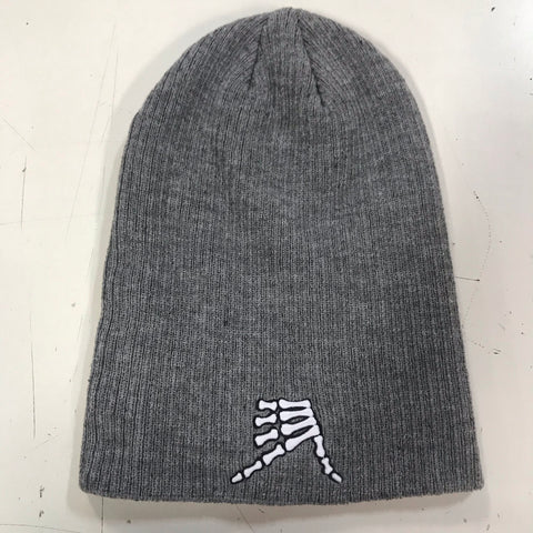AkS Bones Beanie Slouchy in Light Heather