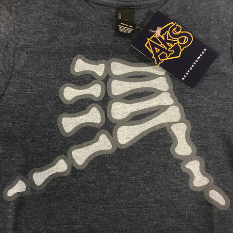 AkS Bones T-Shirt in Navy Frost