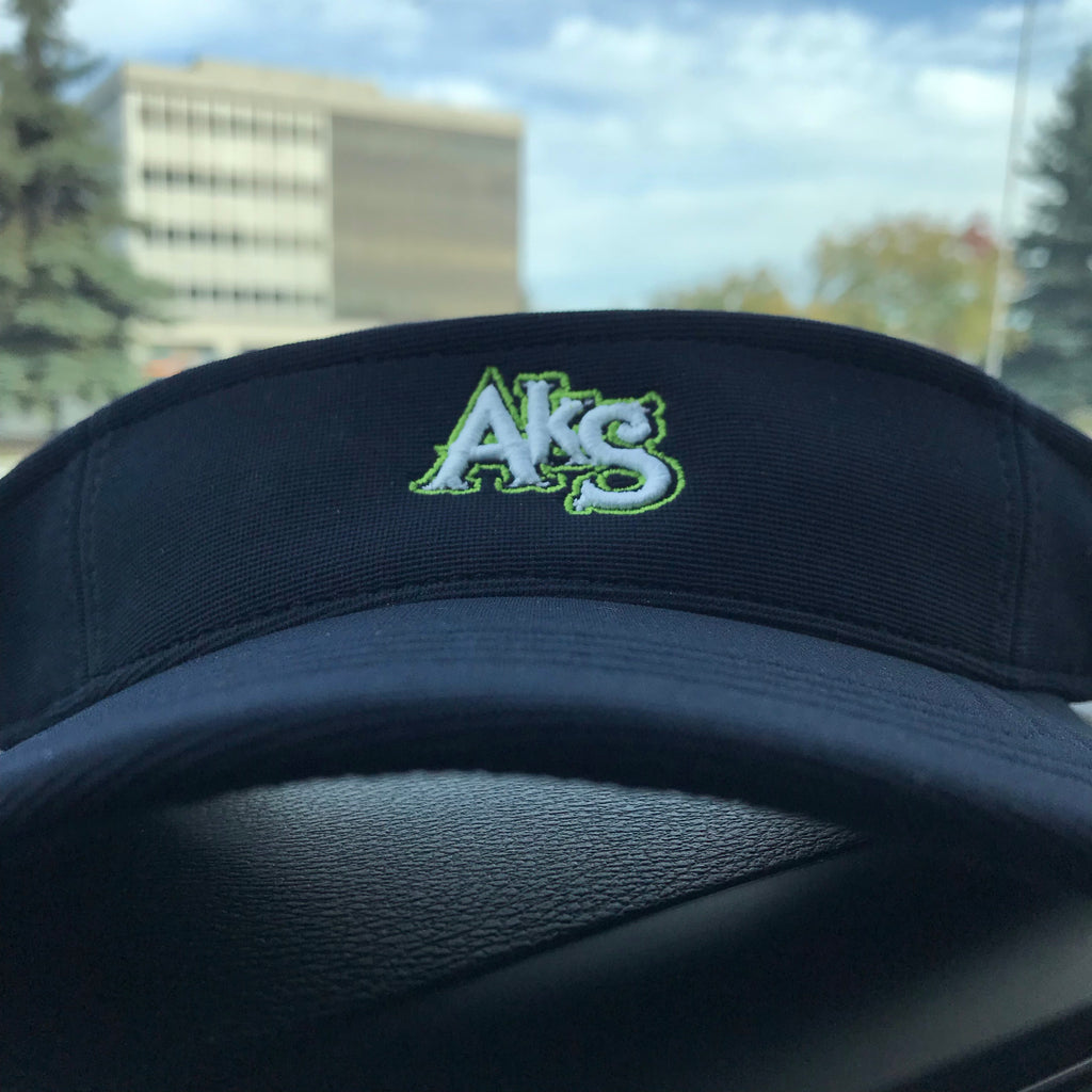 AkS Visor in Navy with Apple Green