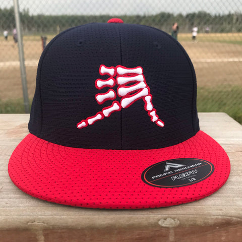 AkS Bones Jersey Hat in Navy & Red
