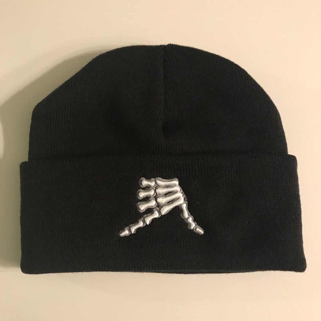 AkS Bones Beanie Knit Cuff in Black