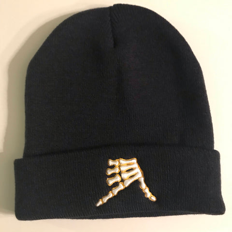 AkS Bones Beanie Knit Cuff in Navy