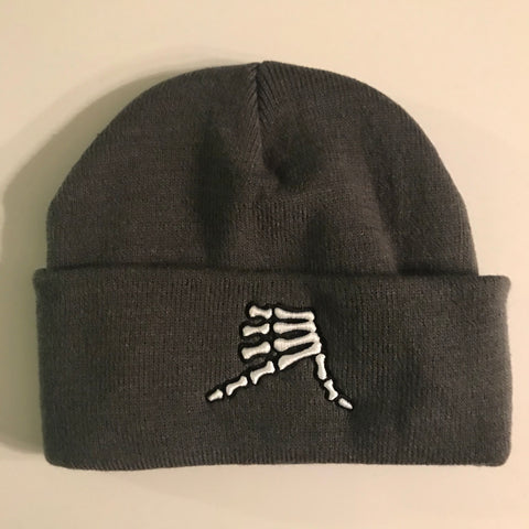 AkS Bones Beanie Knit Cuff in Graphite