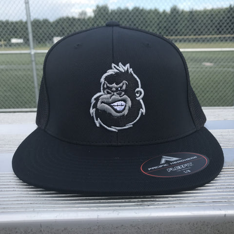 Silverback Flatbill Trucker Hat in Black