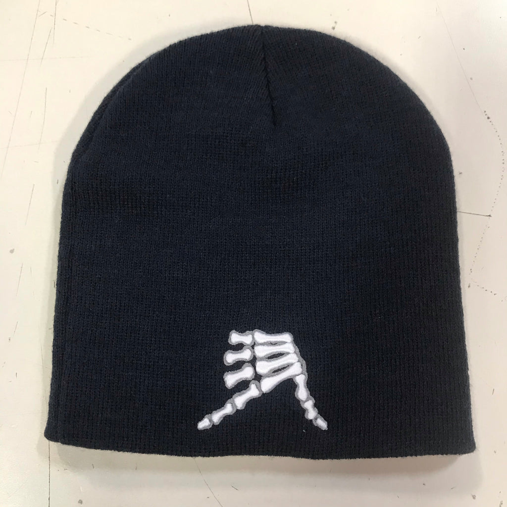 AkS Bones Beanie in Navy & Charcoal