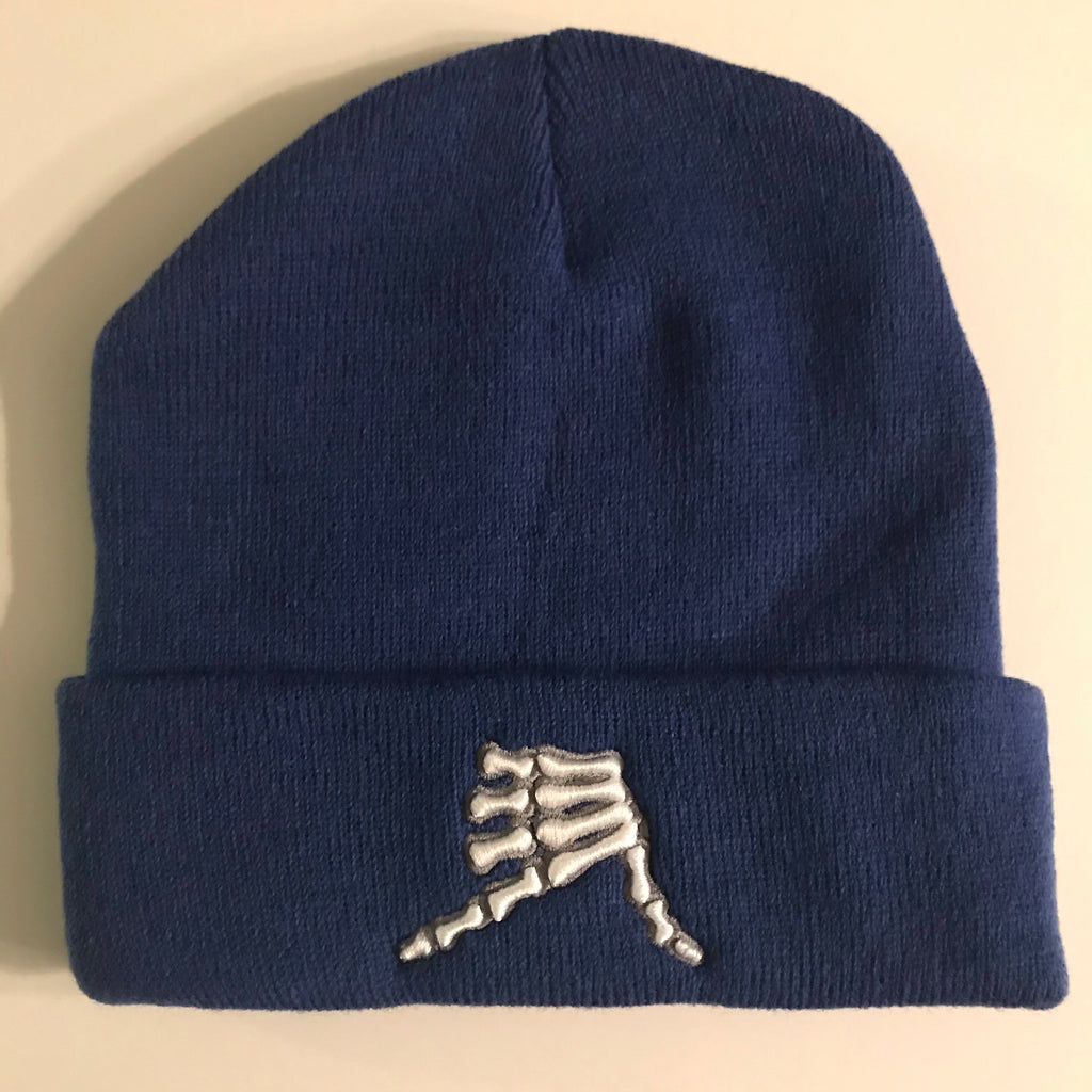 AkS Bones Beanie Knit Cuff in Royal