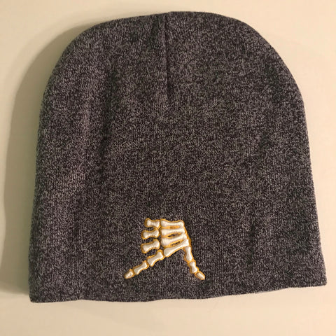 AkS Bones Beanie in Heather Navy