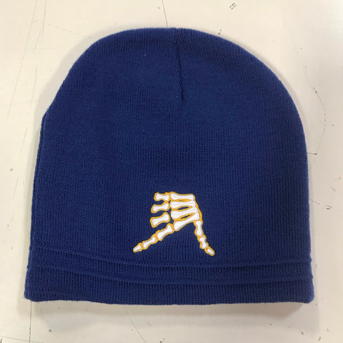 AkS Bones Beanie in Royal & Yellow