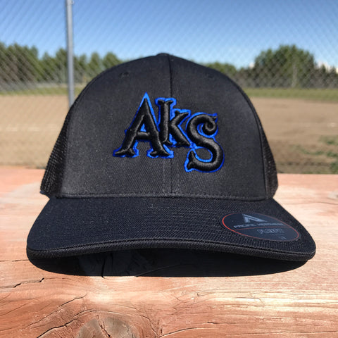 AkS Original Trucker Hat in Black with Royal