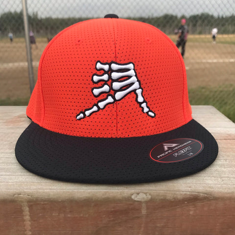 AkS Bones Jersey Hat in Orange & Black