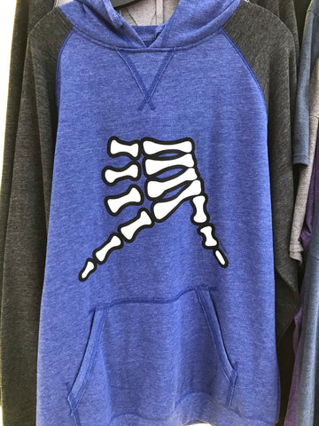 AkS Bones Hoodie in Royal/Charcoal