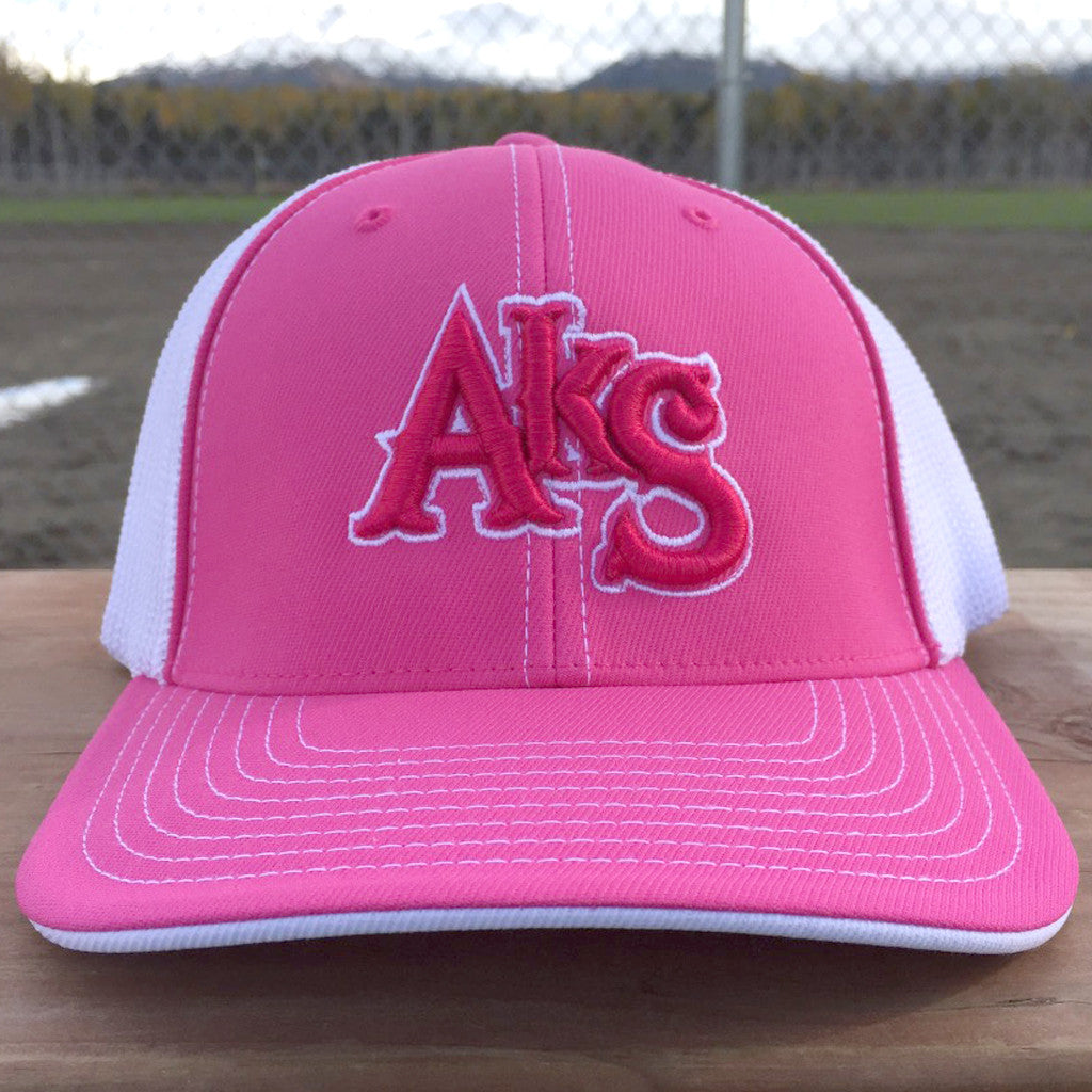 AkS Original Trucker Hat in Pink & White with Dark Pink