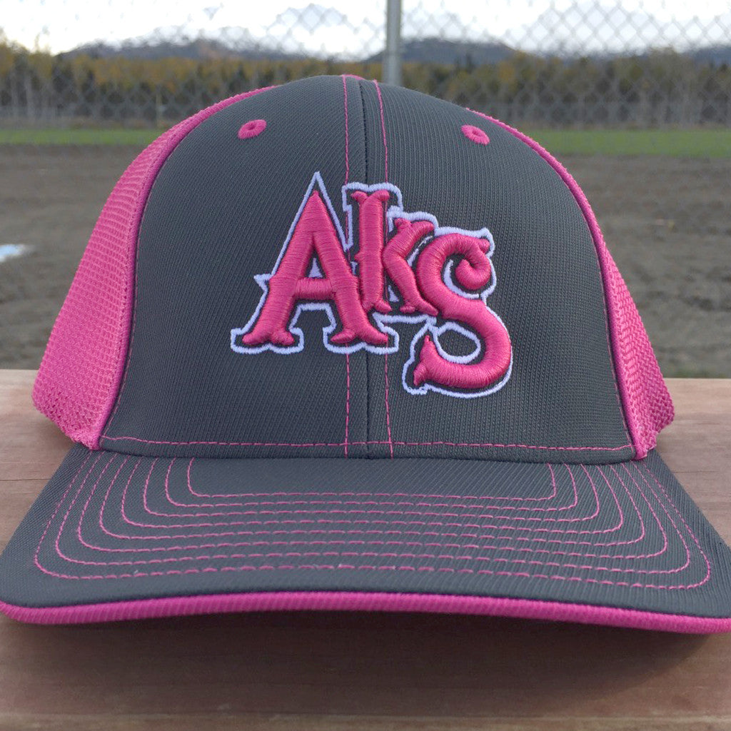 AkS Original Trucker Hat in Graphite & Pink