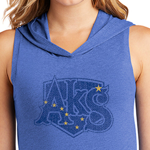 Ursa Major Sleeveless T-Shirt Hoodie in Royal Frost