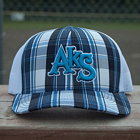 AkS Original adjustable snap-back hat in Plaid