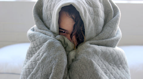 Peeking out of Curfew Dream Blanket