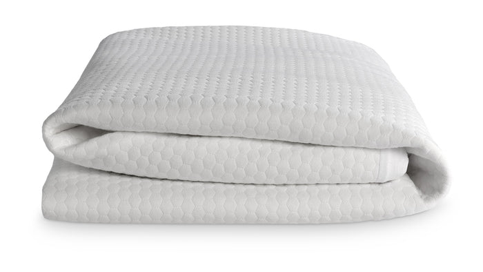 side view of a folded bear mattress protector