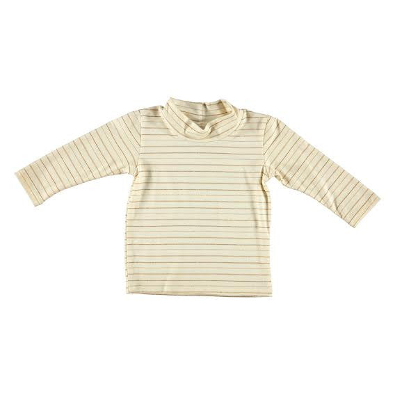 Cream Stripe Mock Turtle