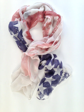 Faded US Flag Scarf